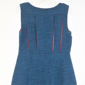 Esley Sheath Dress Size Medium Pockets Teal Red